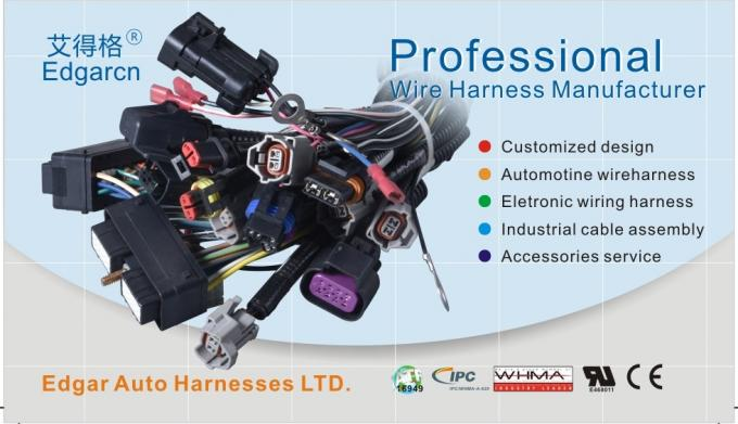Auto Wiring Harness kit  , Diesel Engine Wire Harness Pa66 Material