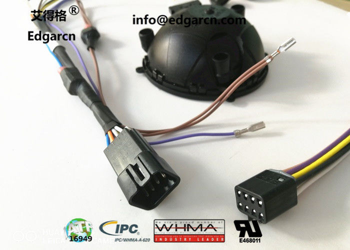 Magna Car Wiring Harness Mirror Harness With Delphi 8 / 2 Pin Injection Plug