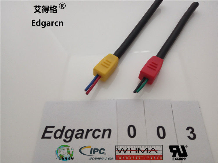 Over Molded Custom Wire Assemblies Cord Strain Relief With Customized Color