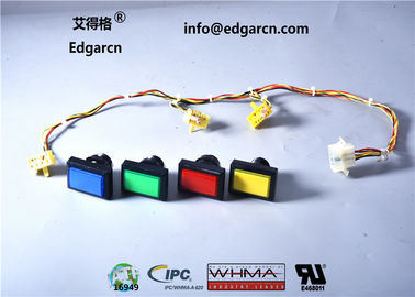 1 Years Warranty Push Button Cable Customized Color For Gambling Machine