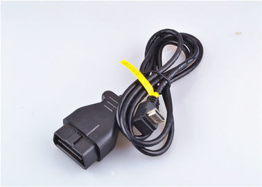 Ul Approved Obd2 Connector Cable Over Molded Coiled Data Communication Cable