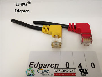 500mm Data Communication Cable ,  8p / 8c Cat5 Network Cable With Right Angle