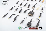 101mm - 500mm Dc Power Cable Injection Molding Customized For Game Machine
